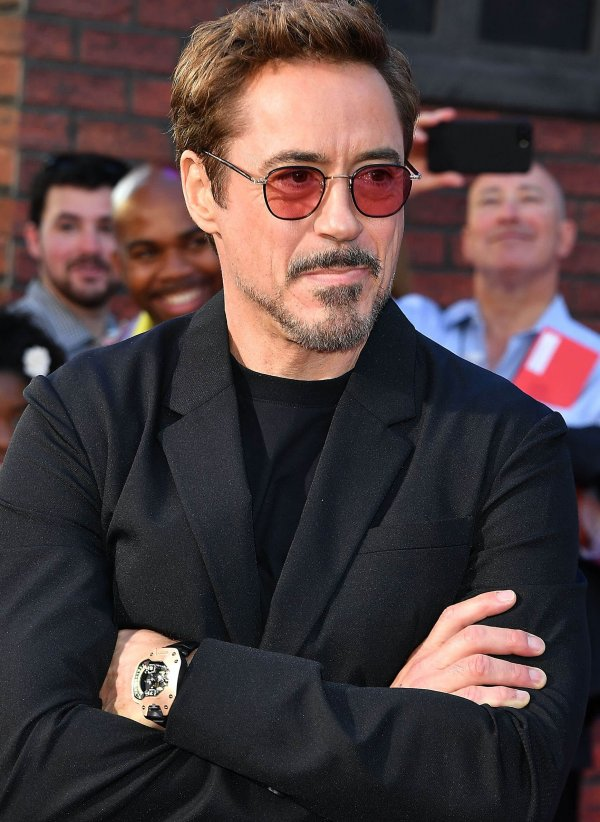 Robert Downey Jr. wears a UR-110